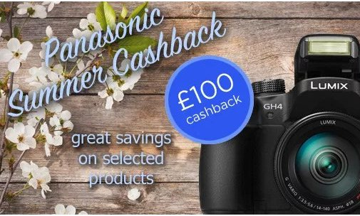 Panasonic Summer Cashbacks