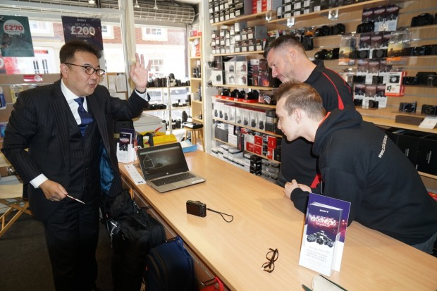 Senior Sony management visit our Salisbury store