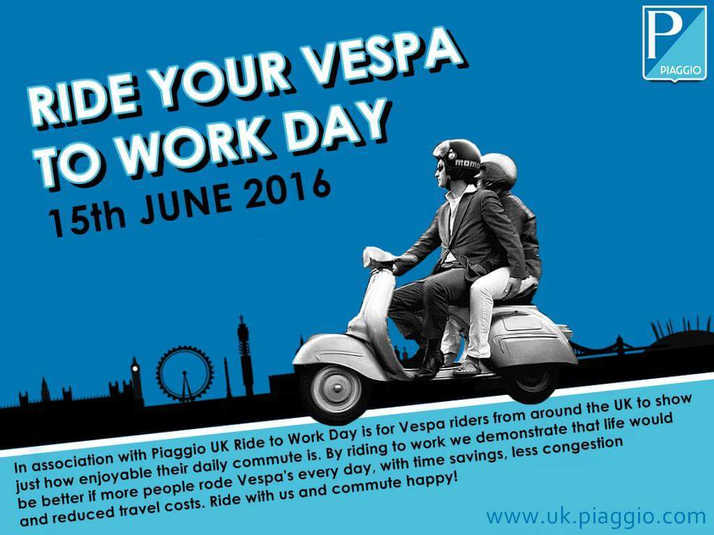 rie your vespa to work day