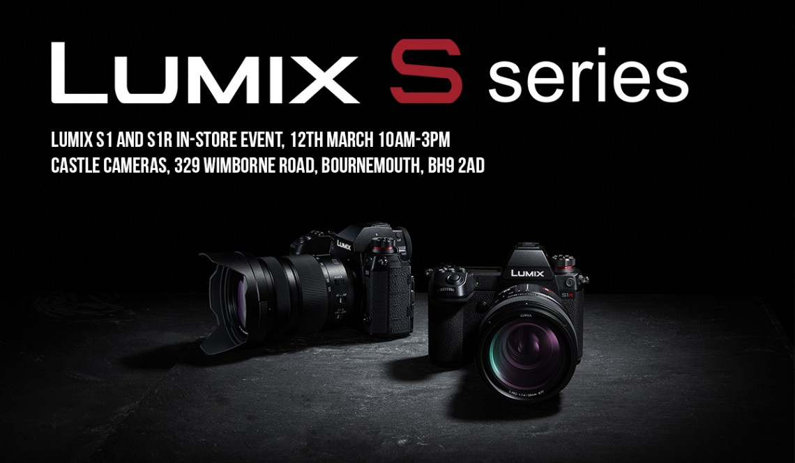 Be inspired! Join us for a special in-store Lumix S1 event. Get hands-on with the new full-frame powerhouse from Panasonic.