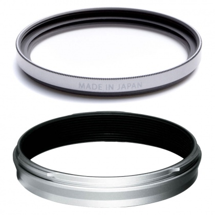 Fujifilm Weather-Resistant Adaptor Ring and Protector Filter for X100V, Silver