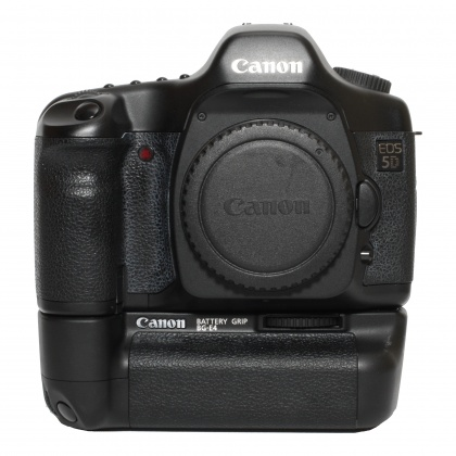 Used Canon EOS 5D body and grip