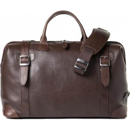 Barber Shop Quiff Doctor Bag Dark Brown Leather