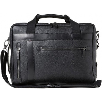 Barber Shop Undercut Convertible Bag Grained Black Leather