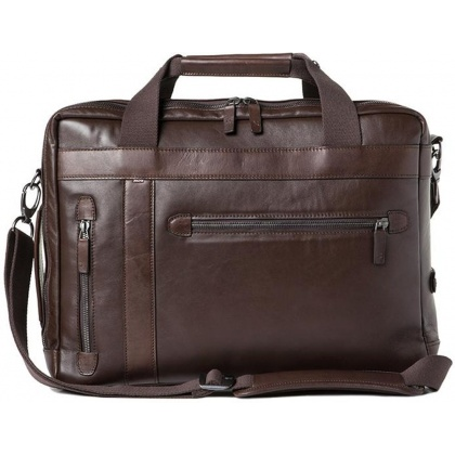 Barber Shop Undercut Convertible Bag Dark Brown Leather
