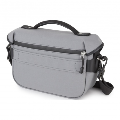 Billingham Hadley Small Pro, Grey Canvas/Black Leather