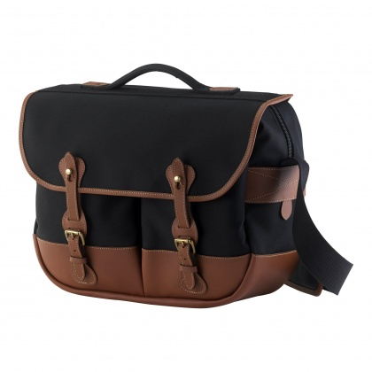 Billingham Eventer Camera Bag, Black Canvas/Tan Leather