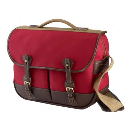 Billingham Eventer Camera Bag, Burgundy Canvas/Chocolate Trim