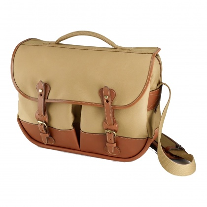 Billingham Eventer Camera Bag, Khaki Canvas/Tan Trim