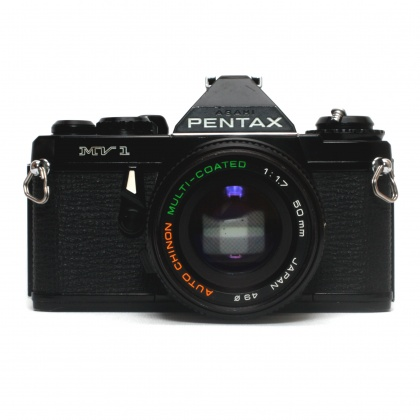 Used Pentax MV1 with 50mm f1.7 (battery cover loose)