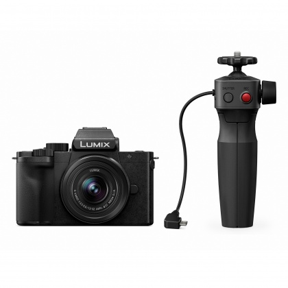 Panasonic Lumix DC-G100 camera with 12-32mm lens and grip