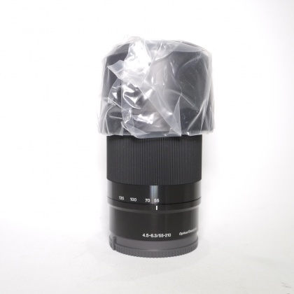 Sony E 55-210mm F4.5-6.3 Black zoom lens, Re-boxed
