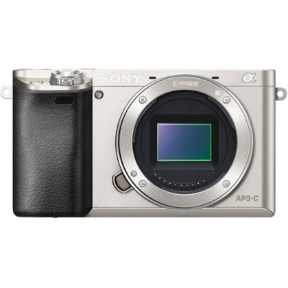 Sony Alpha 6000 silver mirrorless camera body, Re-boxed