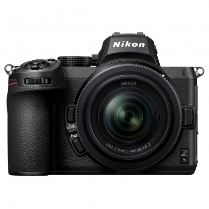Nikon Z5 Full-frame camera with 24-50mm f.4-6.3 lens + mount adapter