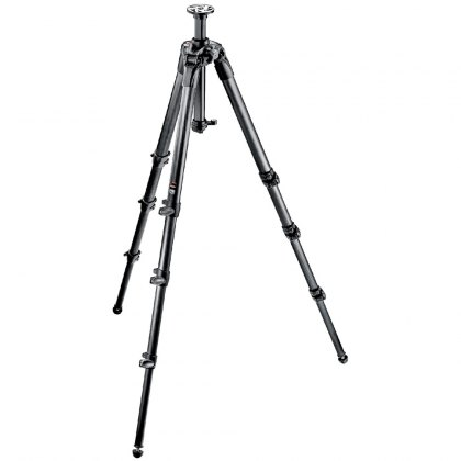 Manfrotto 057 Carbon Fibre Tripod 4 Section tall with rapid column