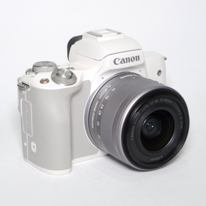 Used Canon EOS M50 White with 15-45mm