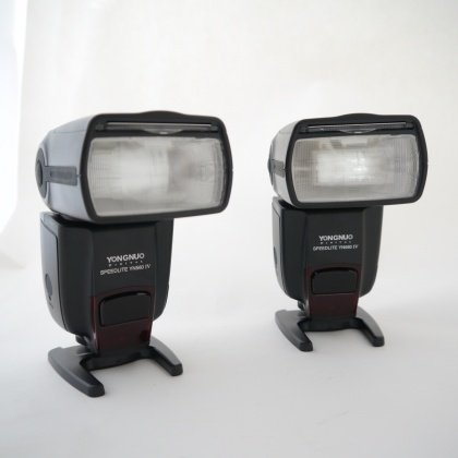 Used Yongnuo Speedlite YN560 IV Twin flash Kit with commander