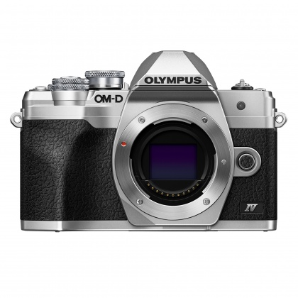 Olympus OM-D E-M10 Mark IV Mirrorless Camera Body, Silver, Pre-order deposit
