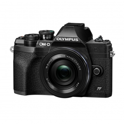 Olympus OM-D E-M10 Mark IV Mirrorless Camera with 14-42mm lens, Black, Pre-order deposit