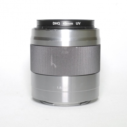 Used Sony E 50mm f1.8 OSS, Silver