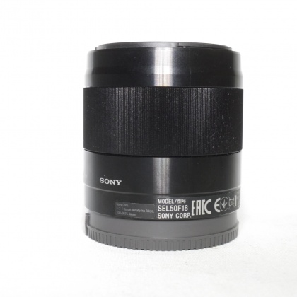 Used Sony E 50mm F1.8 OSS lens - black