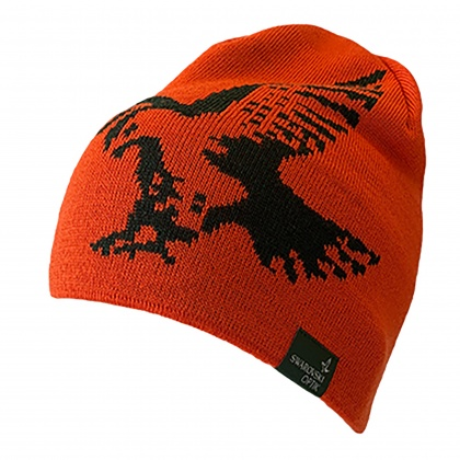 Swarovski Merino Beanie Hat Orange
