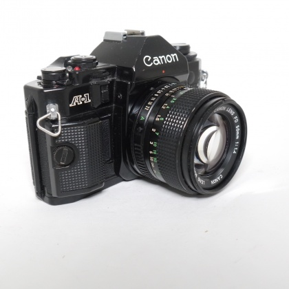 Used Canon A-1 with FD 50mm f1.4