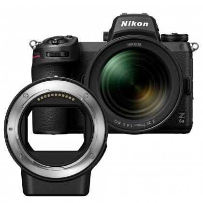 Nikon Z 6II with 24-70 f4 S lens and FTZ mount adapter