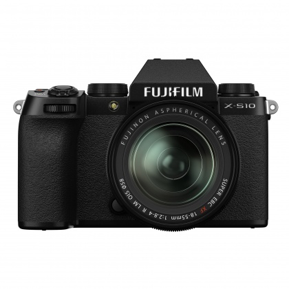 Fujifilm X-S10 Mirrorless Camera, Black with XF18-55mm F2.8-4 R Lens