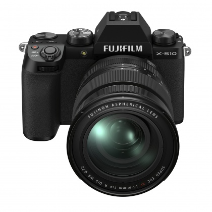 Fujifilm X-S10 Mirrorless Camera, Black with XF16-80mm F4 R OIS WR Lens