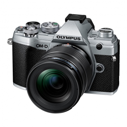 Olympus E-M5 Mark III Mirrorless Camera, Silver with black 12-45 PRO lens