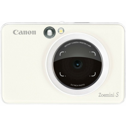 Canon Zoemini S Pocket Instant Camera, Pearl White