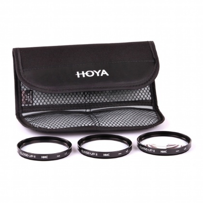 Hoya Close-up set +1+2+4 HMC, 55mm
