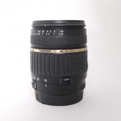 Used Tamron  18-200 F3.5-5.6XR Di II lens for Canon EOS