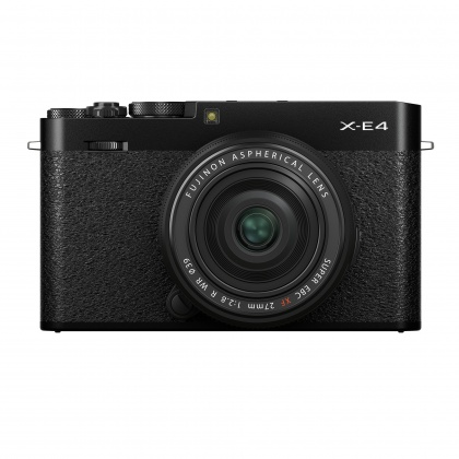 Fujifilm X-E4 Camera Kit with XF 27mm lens, Black