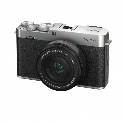 Fujifilm X-E4 Camera Kit with XF 27mm lens, Silver