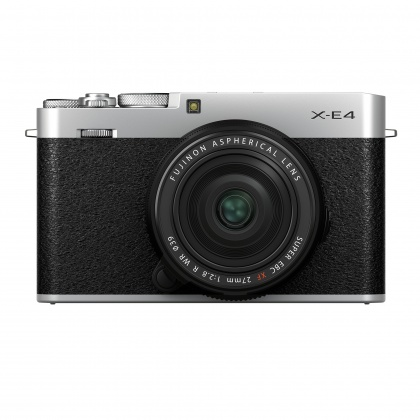 Fujifilm X-E4 Camera Kit with XF 27mm lens, Silver, Pre-order deposit