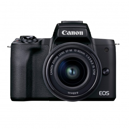 Canon EOS M50 Mark II Camera with 15-45mm lens, Black