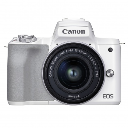 Canon EOS M50 Mark II Camera with 15-45mm lens, White