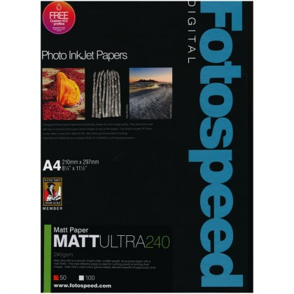 Fotospeed Matt Ultra Paper, 240gsm, A4 - 50 sheets