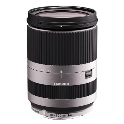Tamron 18-200VC Di3 silver lens for EOS M