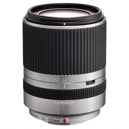 Tamron 14-150 Di3 silver lens for Micro Four Thirds