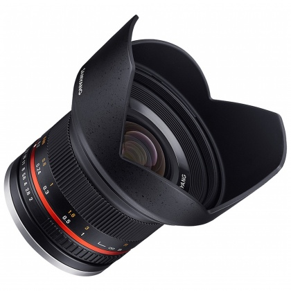 Samyang 12mm f2.0 Wide angle lens for Fuji X, Black