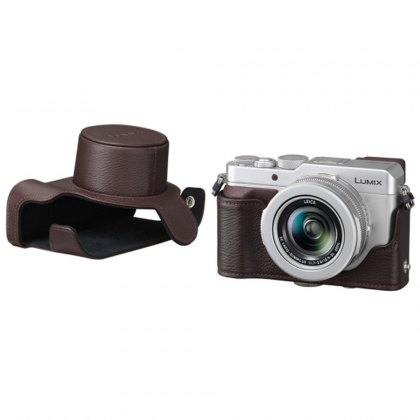 Panasonic DMW-CLX100 Brown Leather case