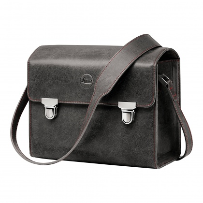 Leica Leather system bag stone grey