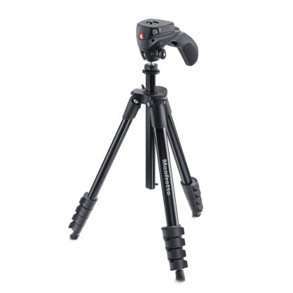 Manfrotto Compact Action Tripod Kit In Black