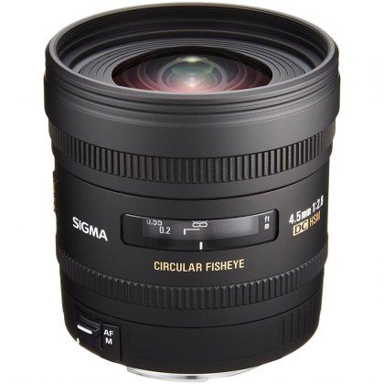 Sigma 4.5mm f2.8 EX DC Circular Fish Eye EOS