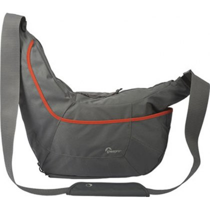 Lowepro Passport Sling III shoulder bag, Grey with Orange stripe