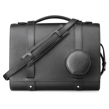 Leica Day bag for Leica Q, black leather