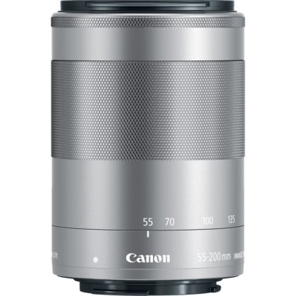 Canon EF-M 55-200mm f4.5-6.3 IS STM, Silver